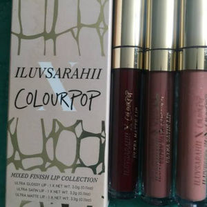 Colourpop iluvsarahii Lip Bundle 3 Pc Liquid Lips